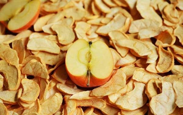 Äpfel als Trockenobst sind besonders beliebt